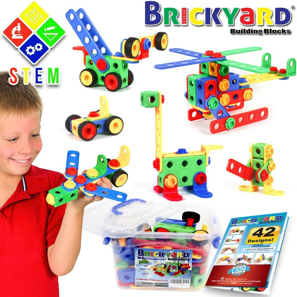 STEM Toys Kit Educational Construction Engineering Building Blocks Learning Set